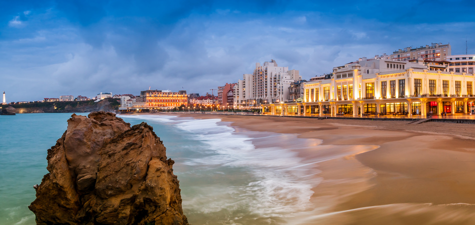 Plage de Biarritz, Pays-Basque, France
