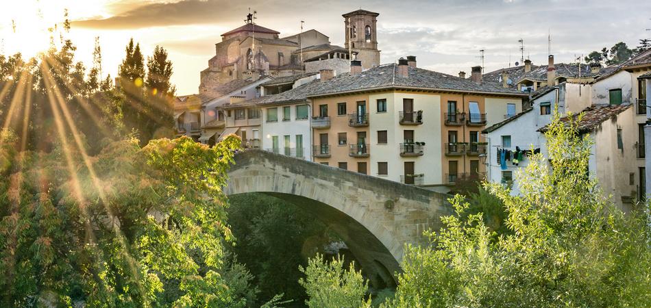 View of Estella, Lizarra, Navarra, Spain