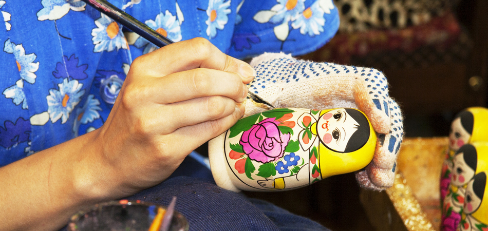 ORSH_matryoshka doll painting craft skill the process of creating a piece of art_950x450
