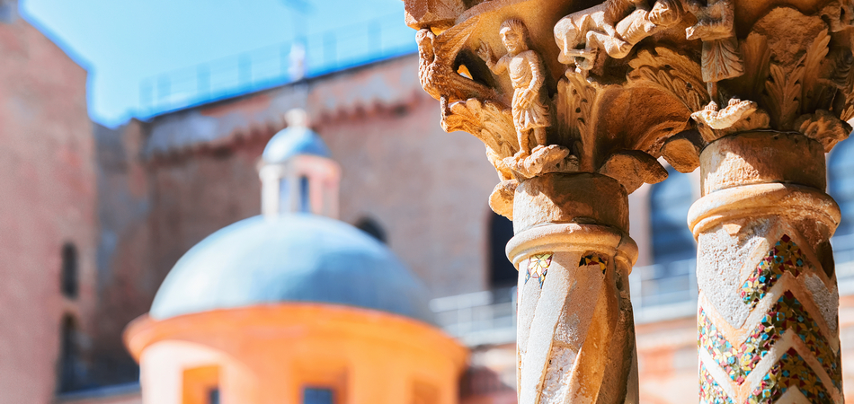 ORSH_Decoration of column of Monreale Cathedral, Sicily, Italy_950x450