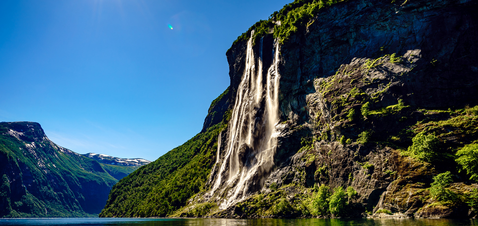 ORSH_Geiranger fjord, waterfall Seven Sisters. Beautiful Nature Norway natural landscape_950x450