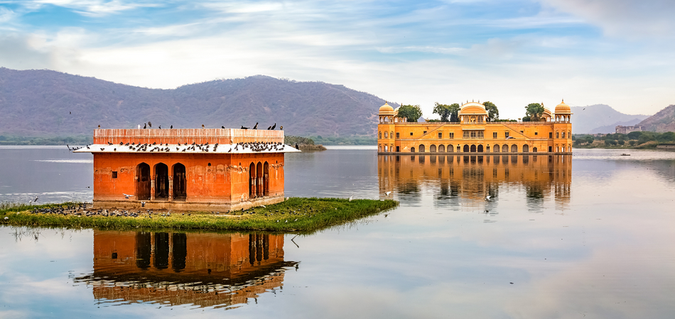ORSH_Jal Mahal water palace Jaipur Rajasthan with scenic landscape view_950x450