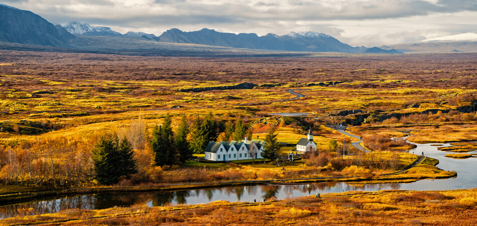 950x450 ORSH_plain thingvellir national park in rescape in Iceland. best vacations. perfect morning