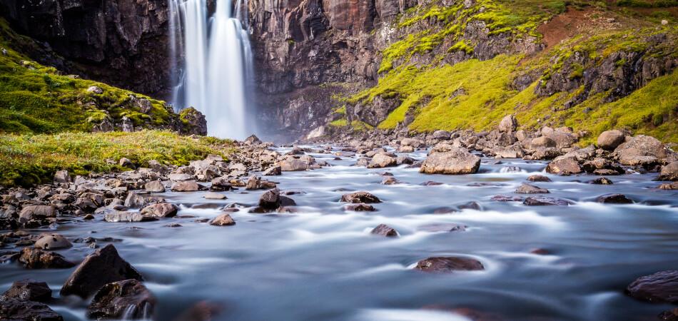 Iceland, east fjords, Isafjordur. Scenics landscape
