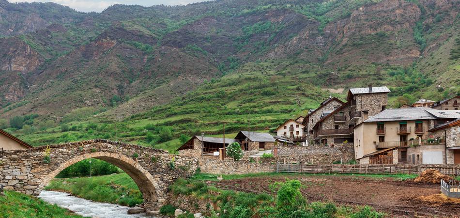 Old bridge in Espot village, Spain