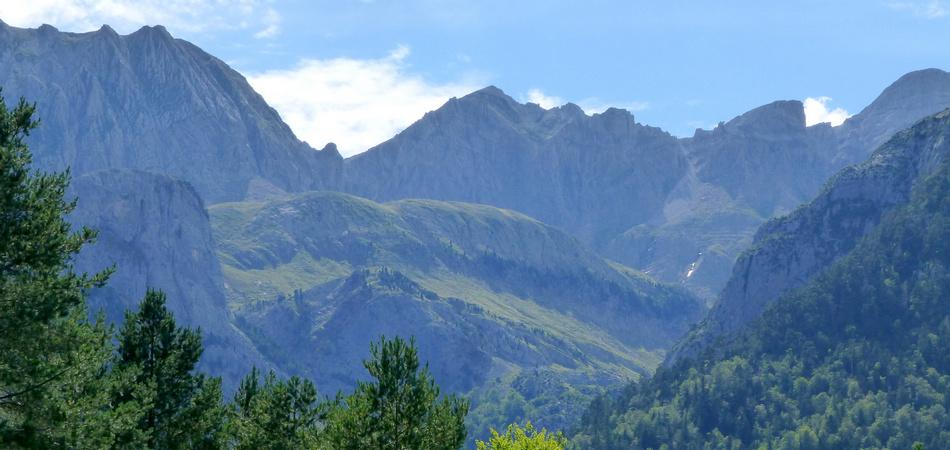 Mountain landscape Selva de Oza Aragon Spain