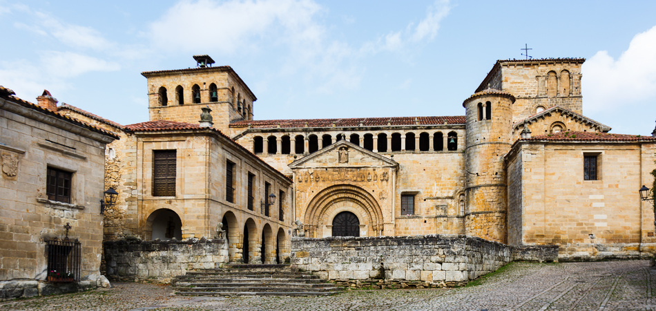 Collegiate Church in Santillana del Mar, Cantabria, Spain