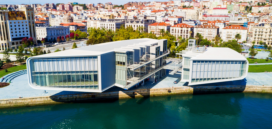 SANTANDER, SPAIN - SEPTEMBER 27, 2017: Centro Botin or Botin Center is a cultural facility building located in Santander, Spain